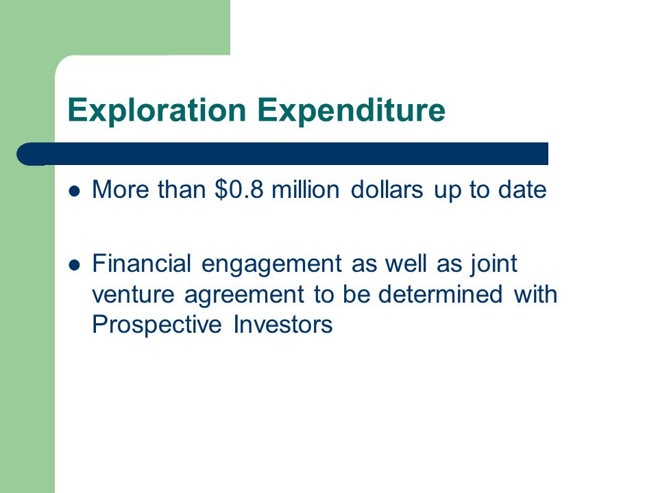 Exploration Expenditure