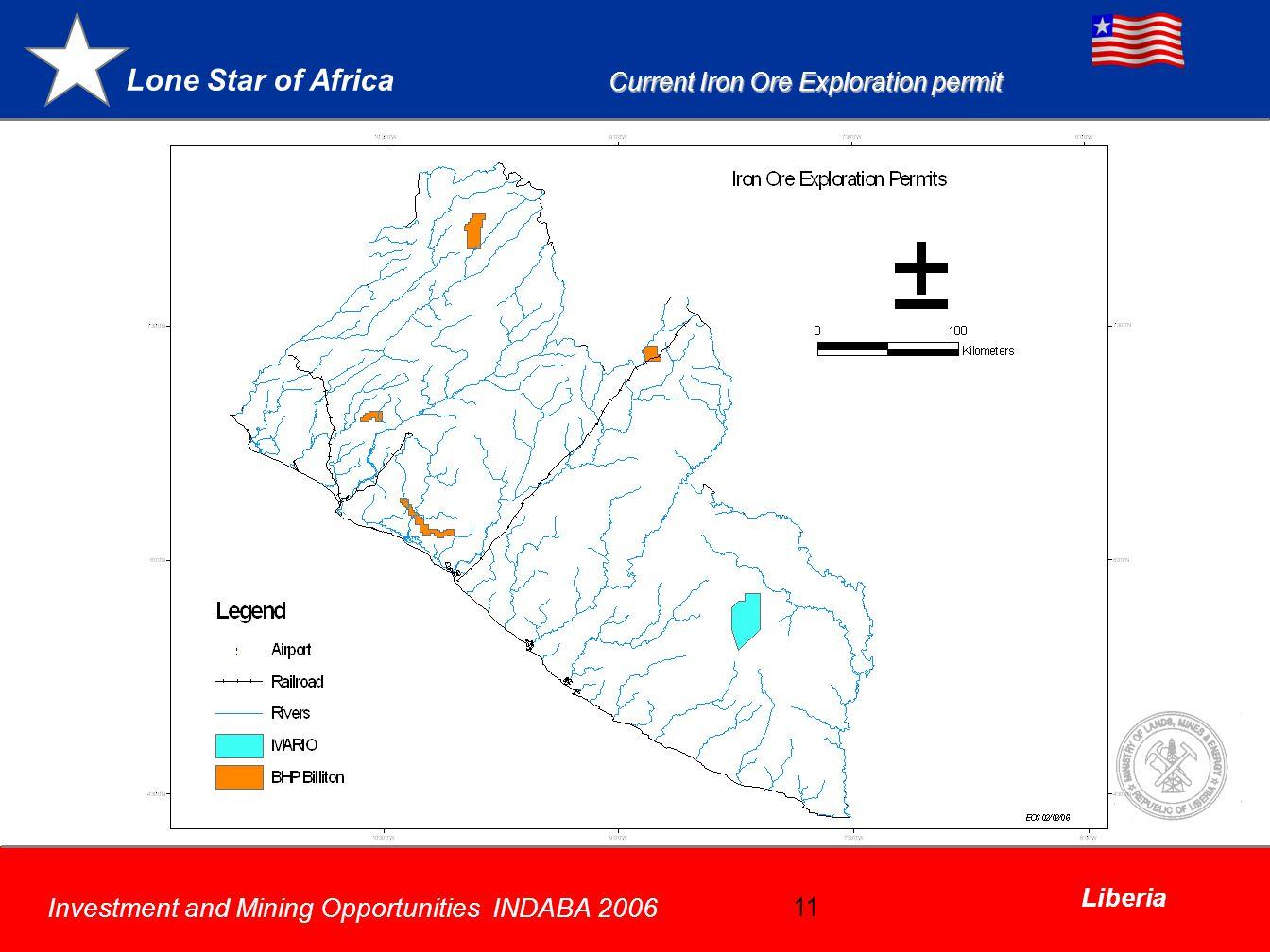 Current Iron Ore Exploration permit