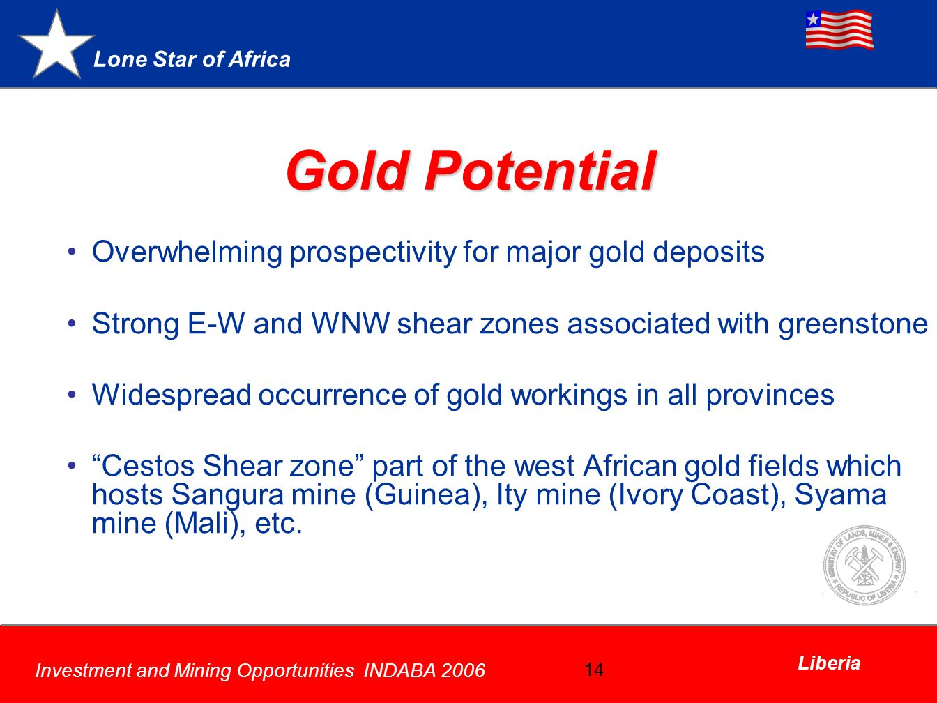 Gold Potential Overwhelming prospectivity for major gold deposits