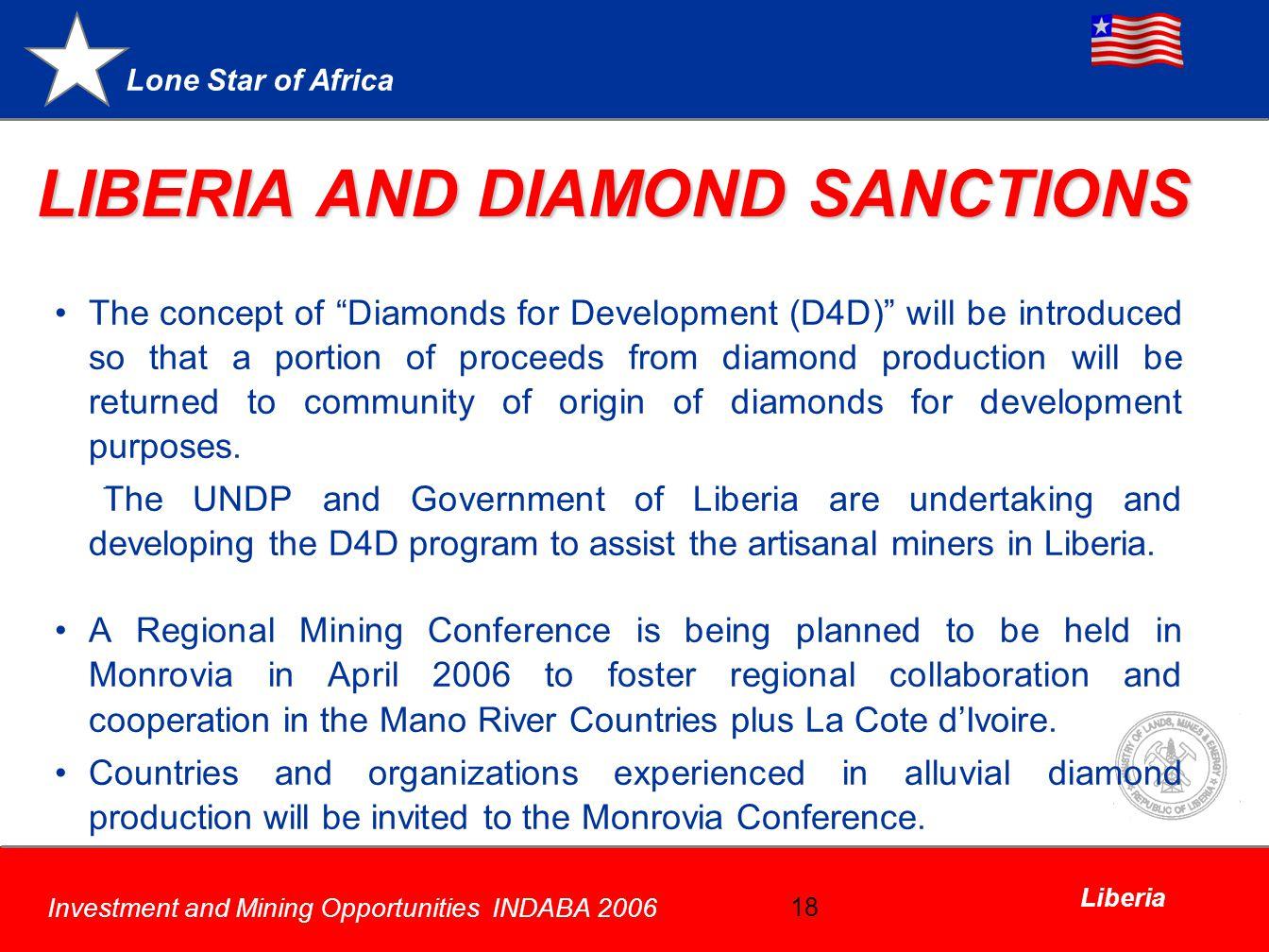 LIBERIA AND DIAMOND SANCTIONS