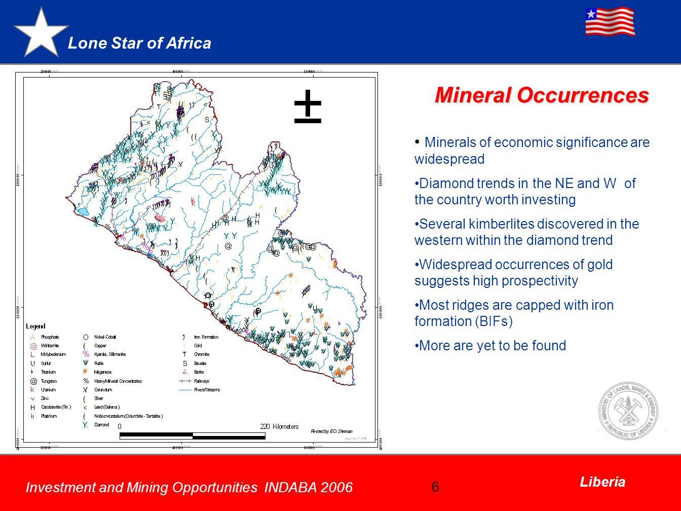 Mineral Occurrences Minerals of economic significance are widespread