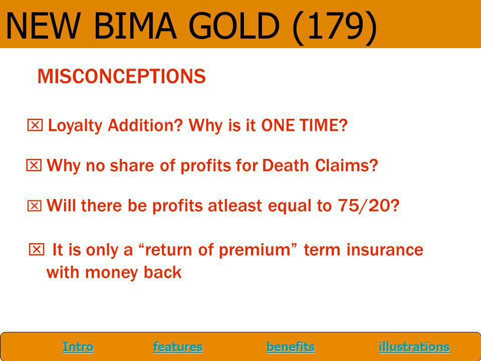 NEW BIMA GOLD (179) MISCONCEPTIONS with money back