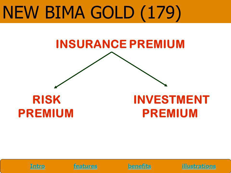 NEW BIMA GOLD (179) INSURANCE PREMIUM RISK INVESTMENT PREMIUM PREMIUM
