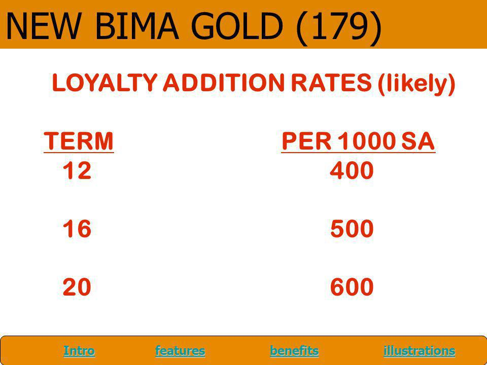 LOYALTY ADDITION RATES (likely)