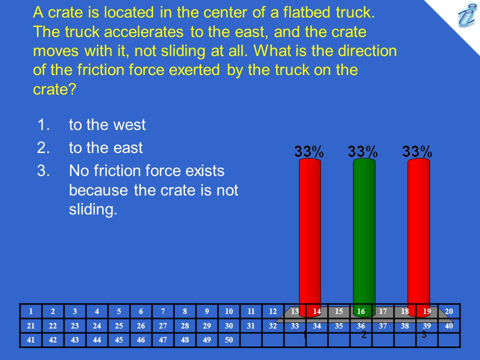 No friction force exists because the crate is not sliding.