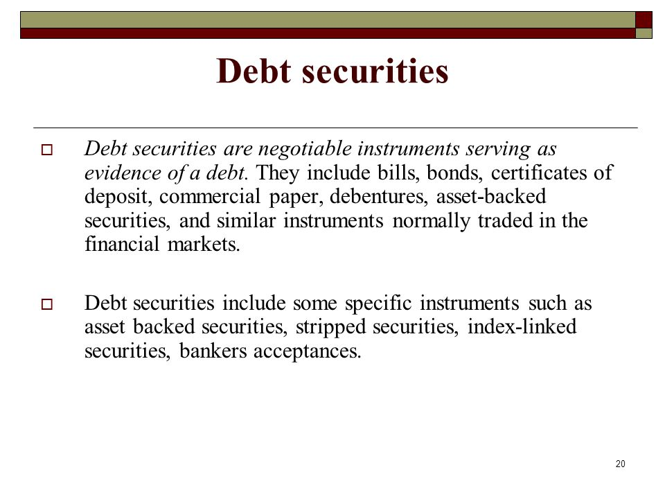 Debt securities
