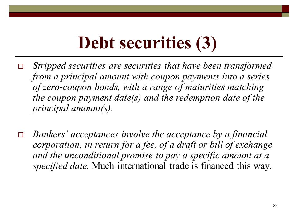 Debt securities (3)