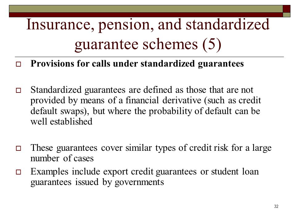 Insurance, pension, and standardized guarantee schemes (5)