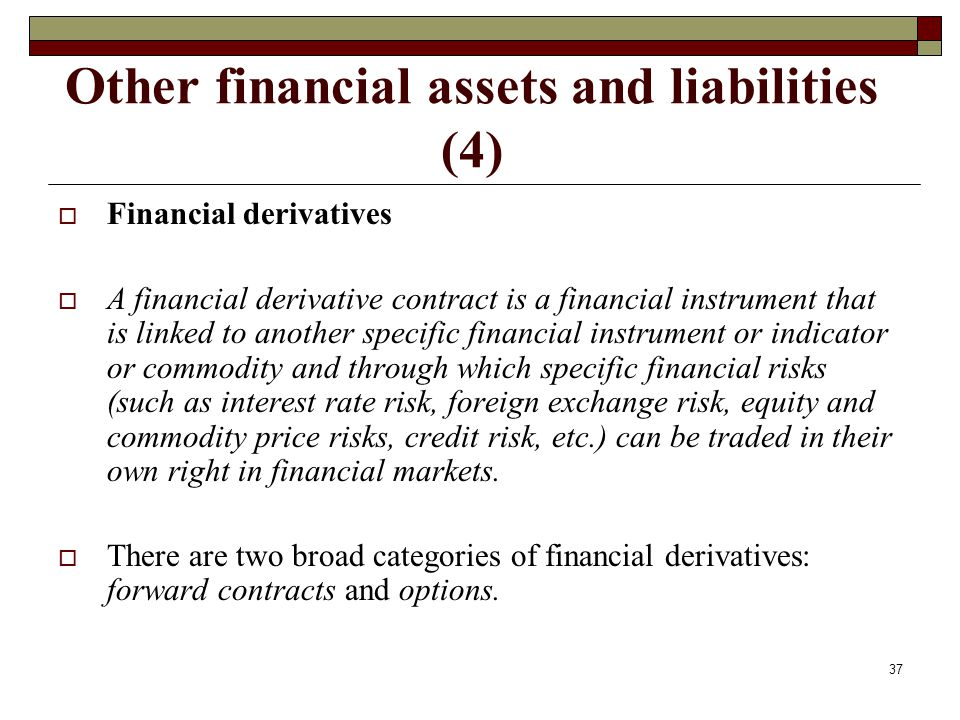 Other financial assets and liabilities (4)