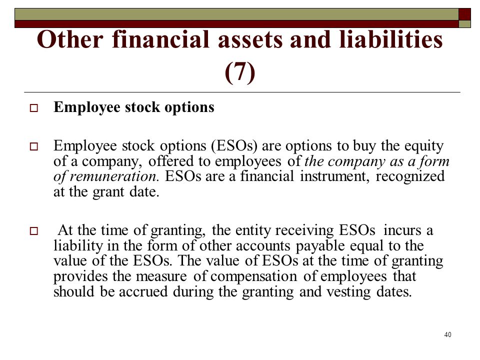 Other financial assets and liabilities (7)