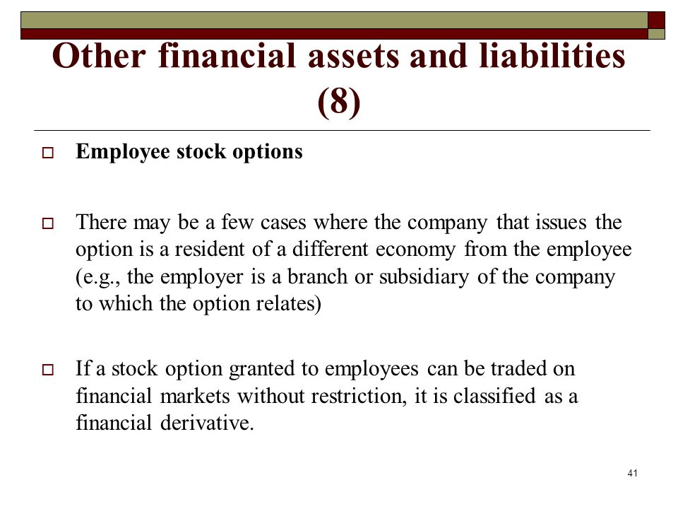 Other financial assets and liabilities (8)
