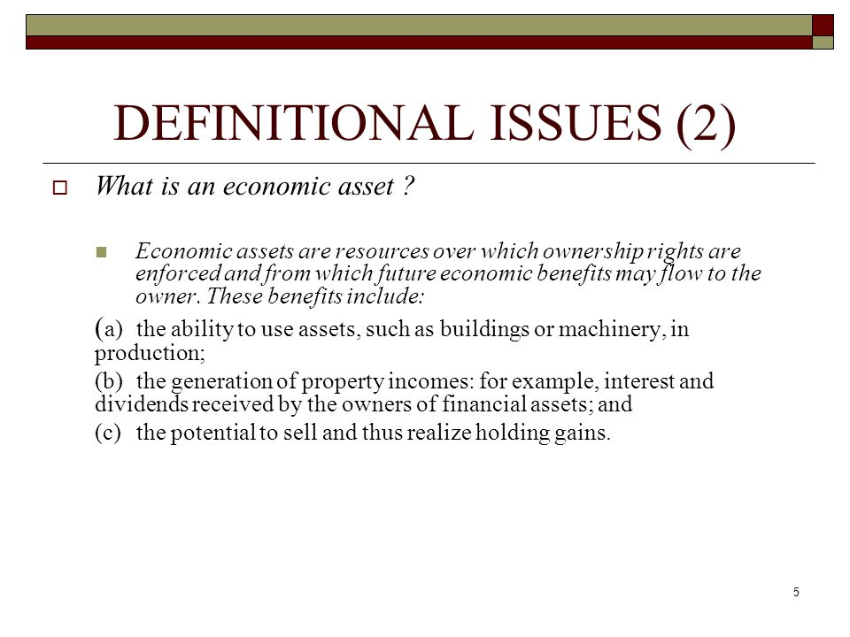 DEFINITIONAL ISSUES (2)