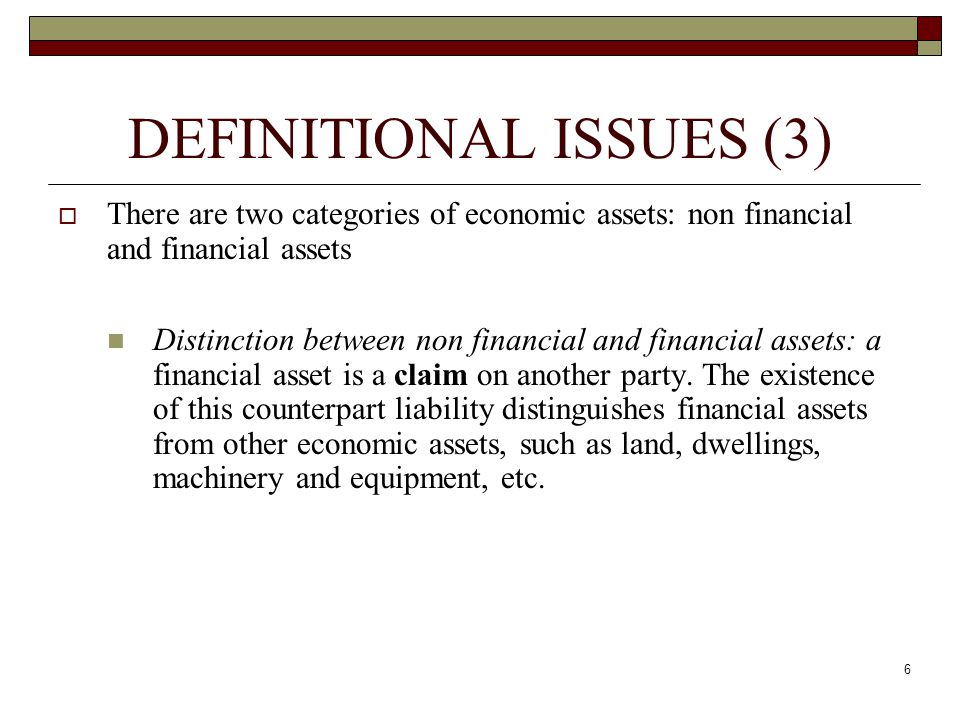 DEFINITIONAL ISSUES (3)