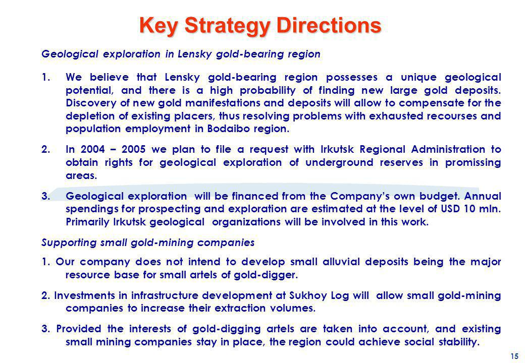 Key Strategy Directions