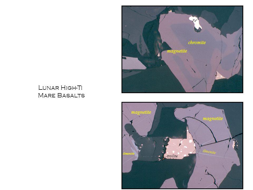 Lunar High-Ti Mare Basalts chromite magnetite magnetite magnetite