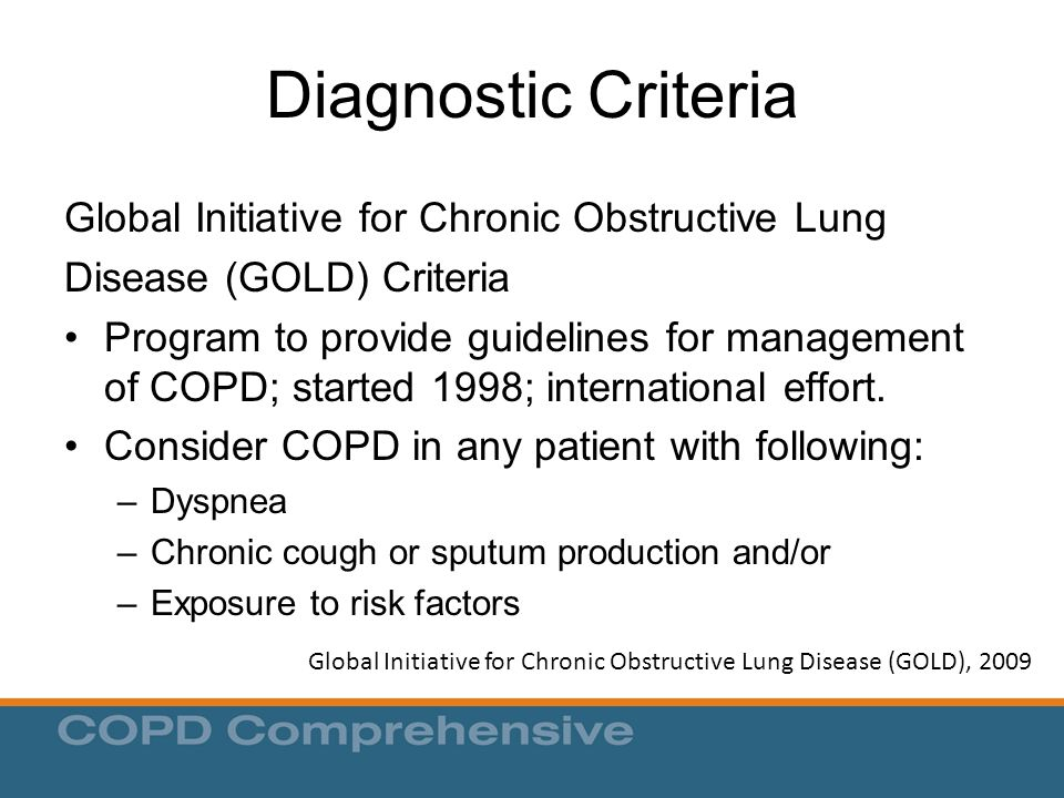 Global Initiative for Chronic Obstructive Lung Disease (GOLD), 2009