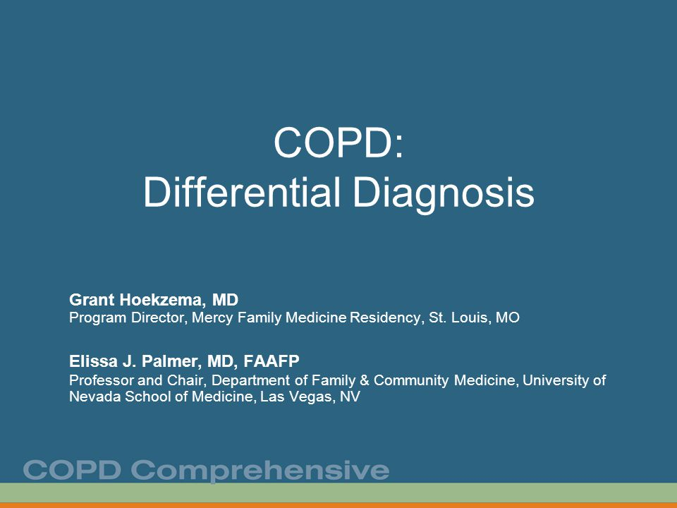 COPD: Differential Diagnosis