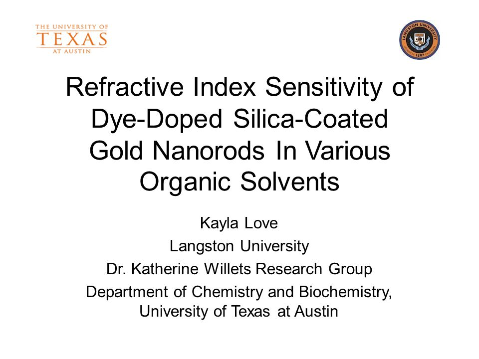 Refractive Index Sensitivity of Dye-Doped Silica-Coated Gold Nanorods In Various Organic Solvents