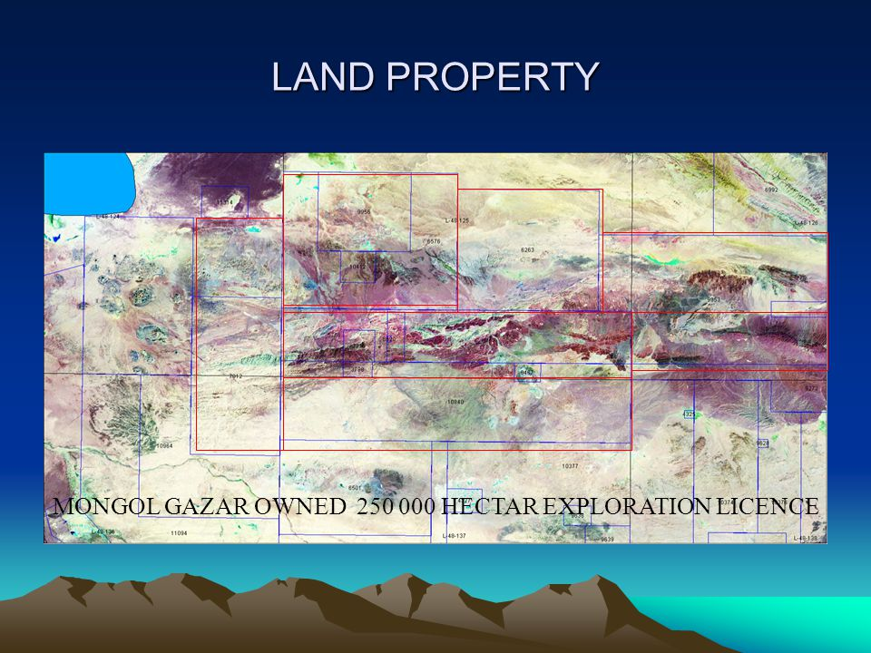 LAND PROPERTY MONGOL GAZAR OWNED HECTAR EXPLORATION LICENCE