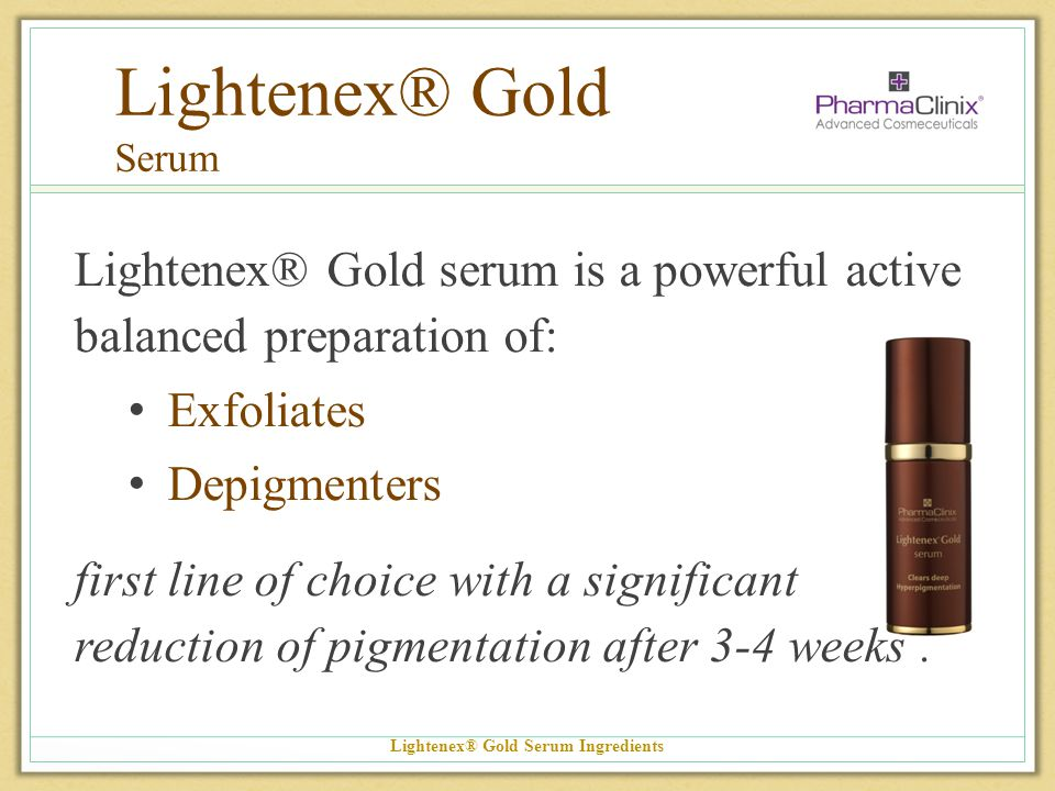 Lightenex® Gold Serum Ingredients