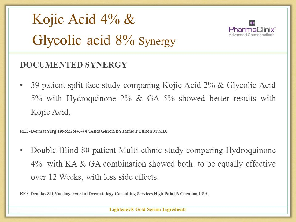 Kojic Acid 4% & Glycolic acid 8% Synergy