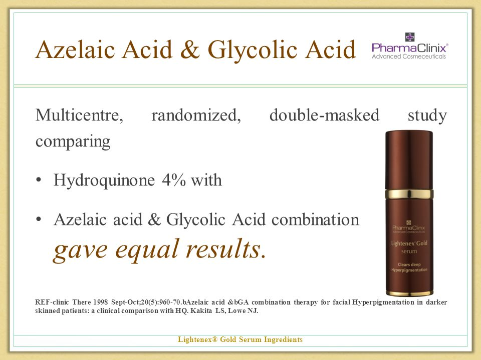 Azelaic Acid & Glycolic Acid