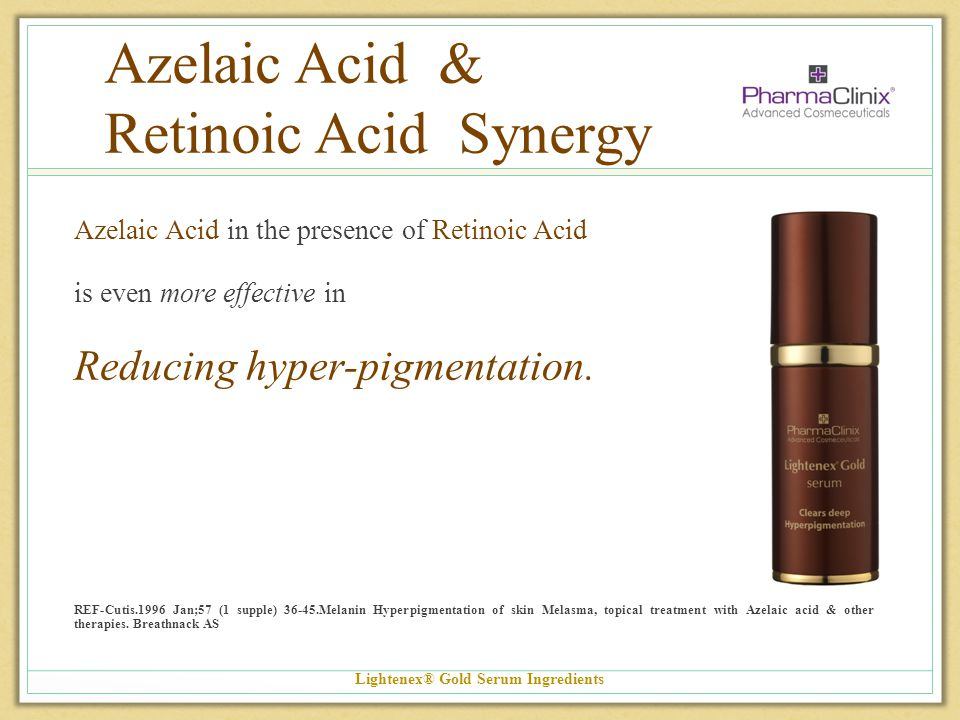 Azelaic Acid & Retinoic Acid Synergy