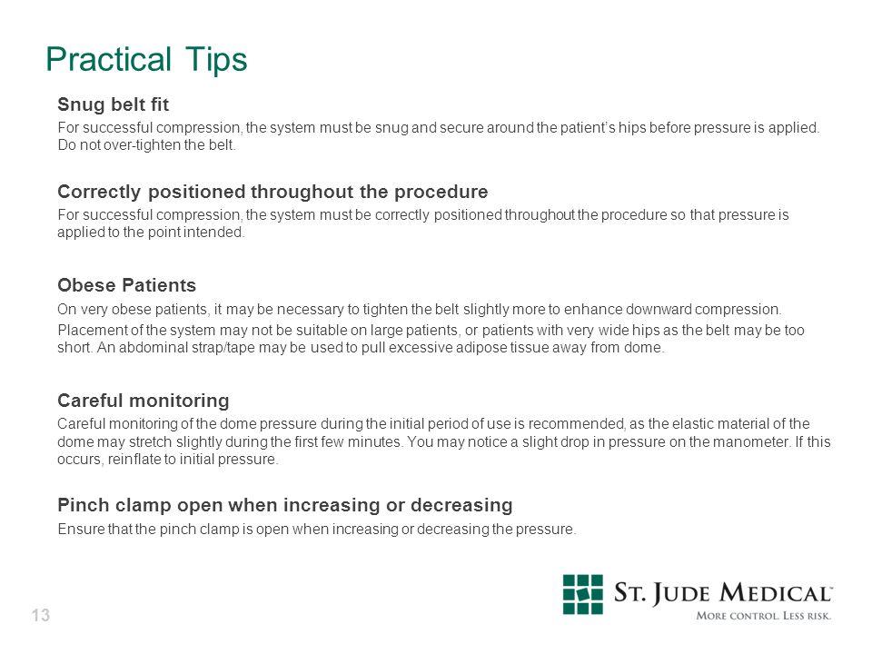 Practical Tips Snug belt fit