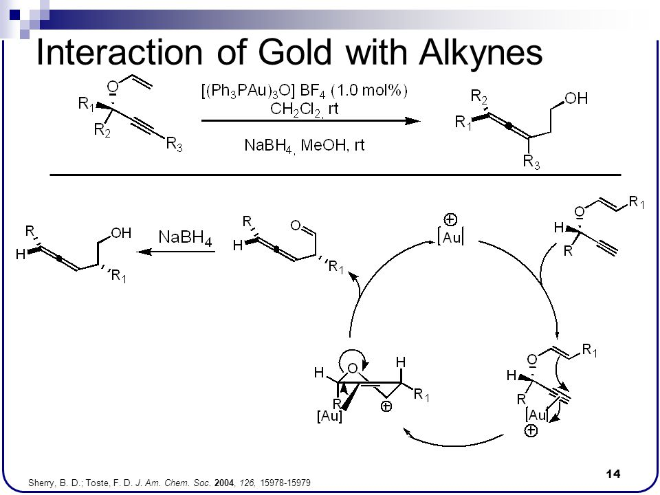 Interaction of Gold with Alkynes