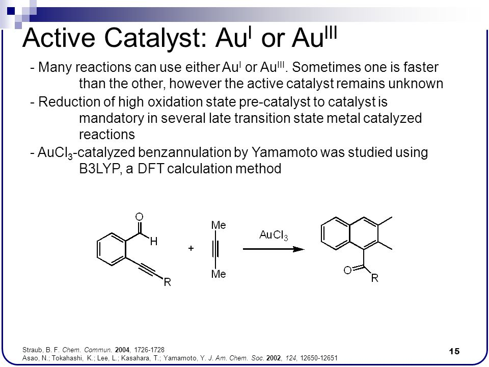 Active Catalyst: AuI or AuIII