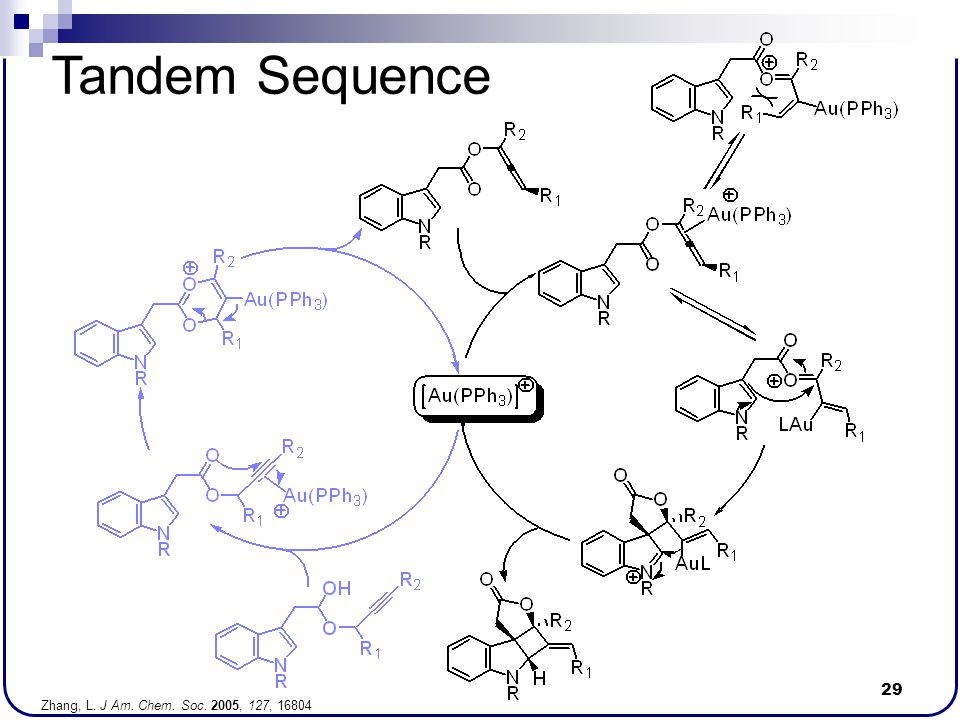 Tandem Sequence Zhang, L. J Am. Chem. Soc. 2005, 127, 16804