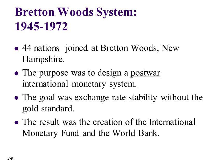 Bretton Woods System: 1945-1972
