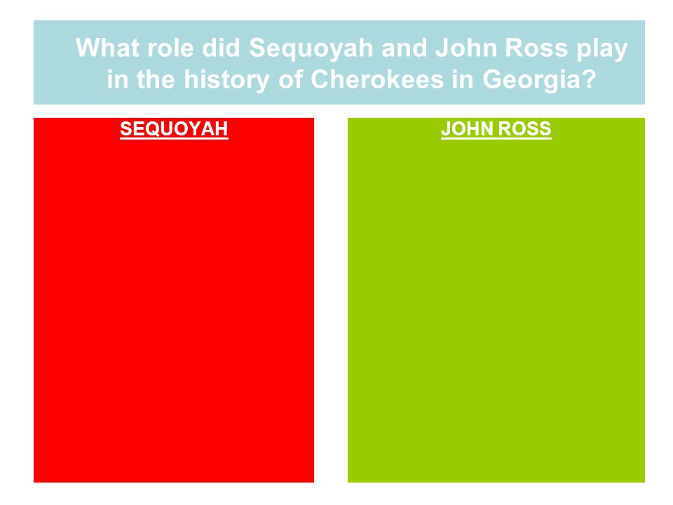 What role did Sequoyah and John Ross play in the history of Cherokees in Georgia