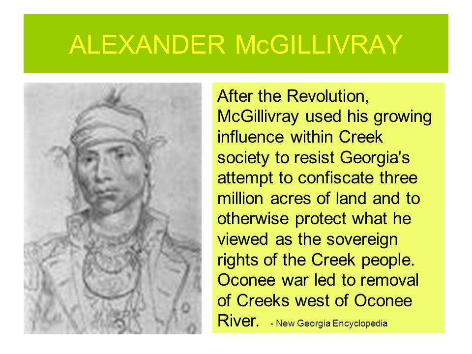 ALEXANDER McGILLIVRAY