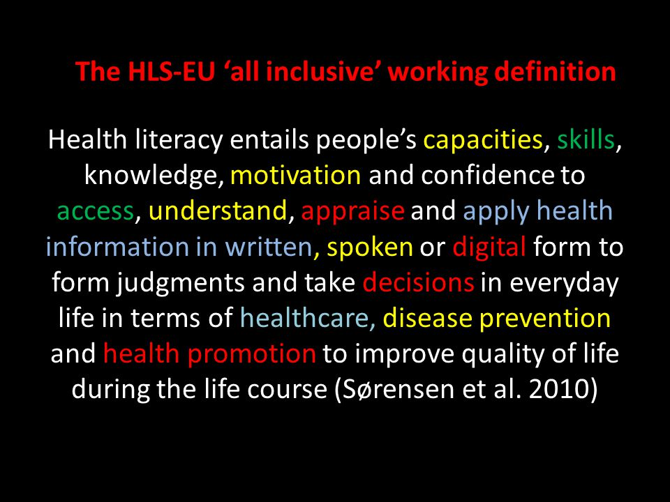The HLS-EU 'all inclusive' working definition