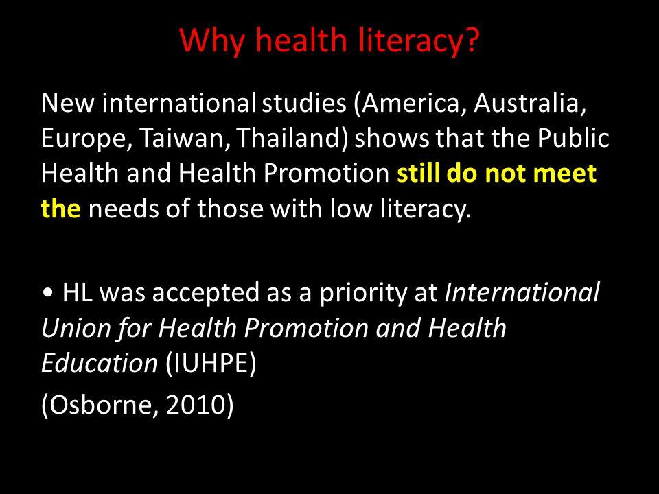 Why health literacy