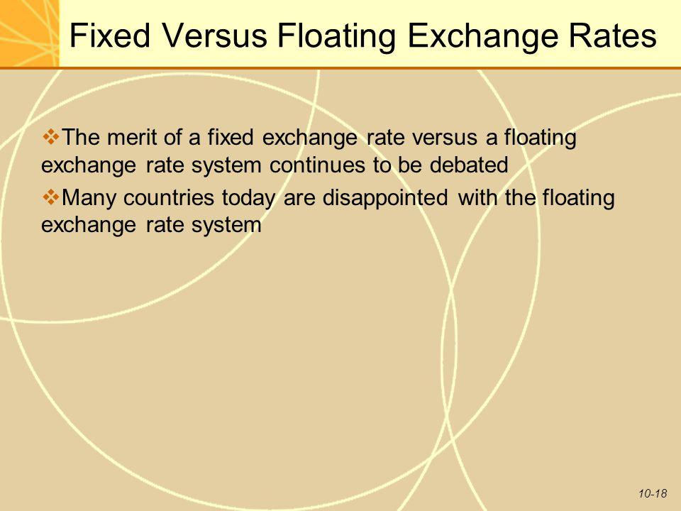 Fixed Versus Floating Exchange Rates