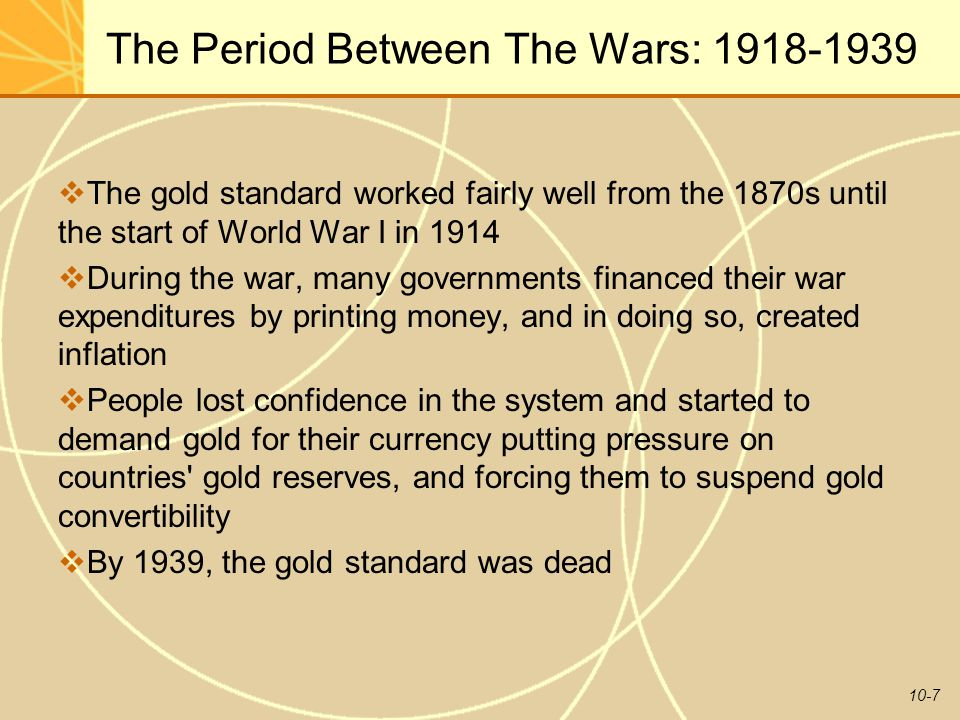 The Period Between The Wars: