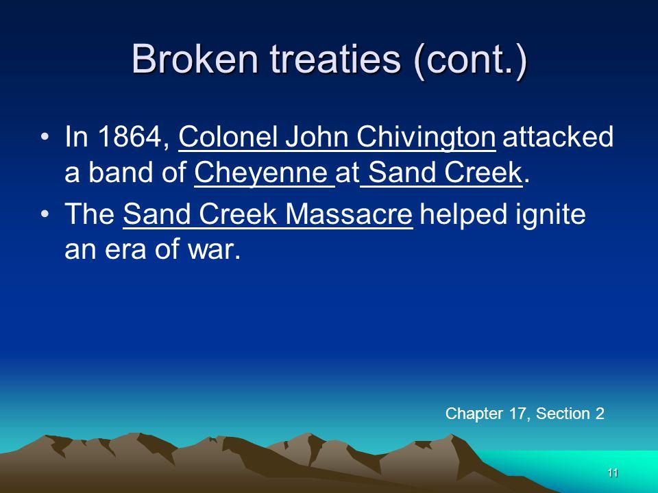 Broken treaties (cont.)