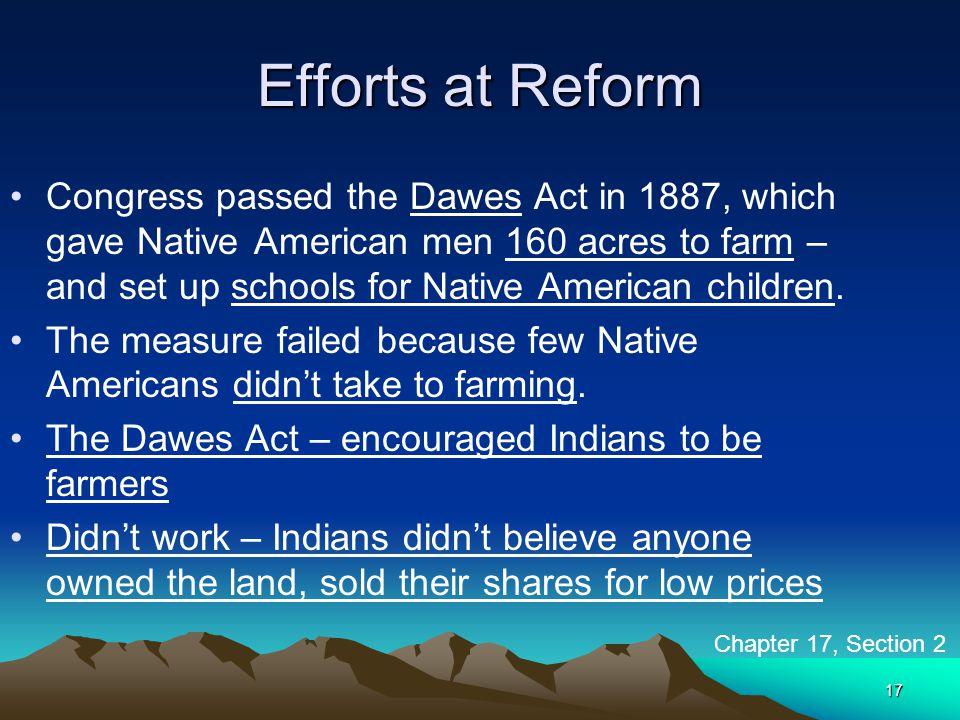 Efforts at Reform