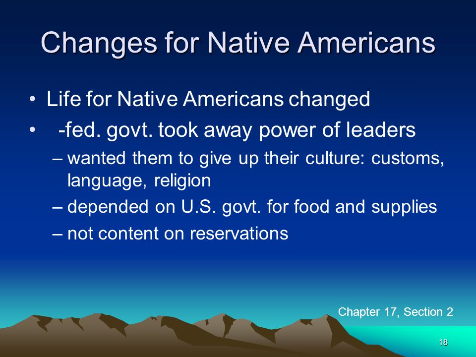 Changes for Native Americans