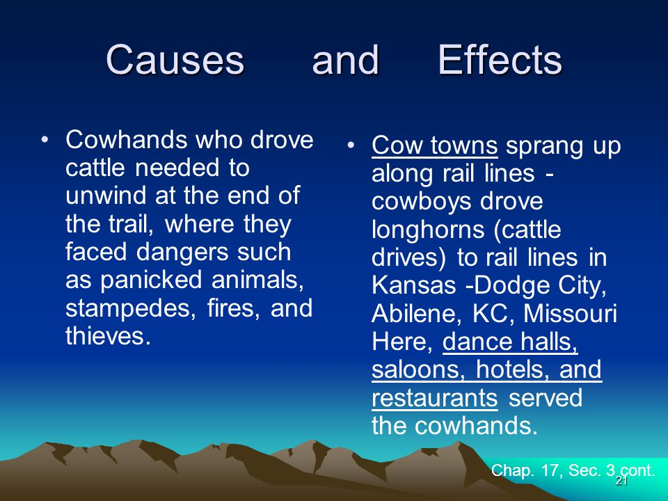 Causes and Effects