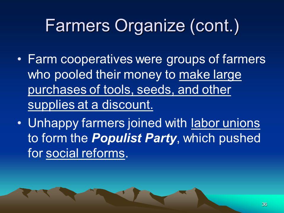 Farmers Organize (cont.)