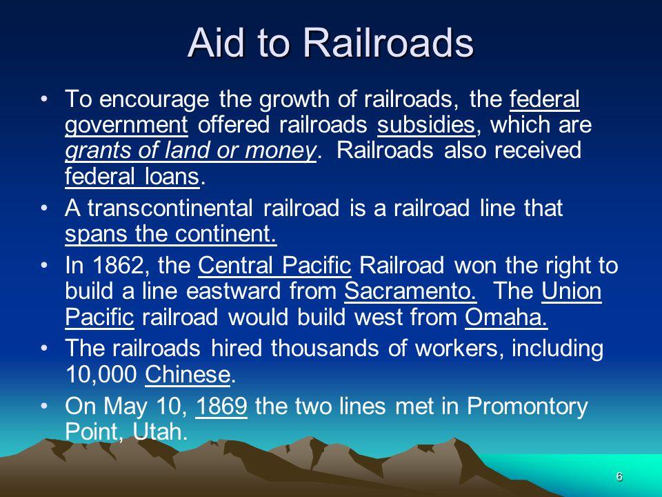 Aid to Railroads