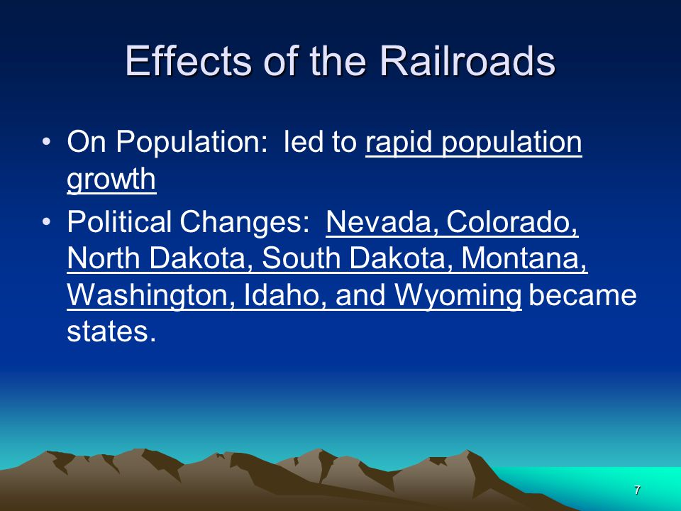 Effects of the Railroads