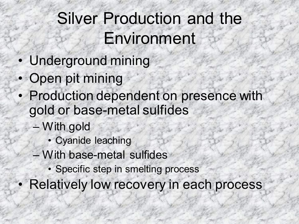 Silver Production and the Environment
