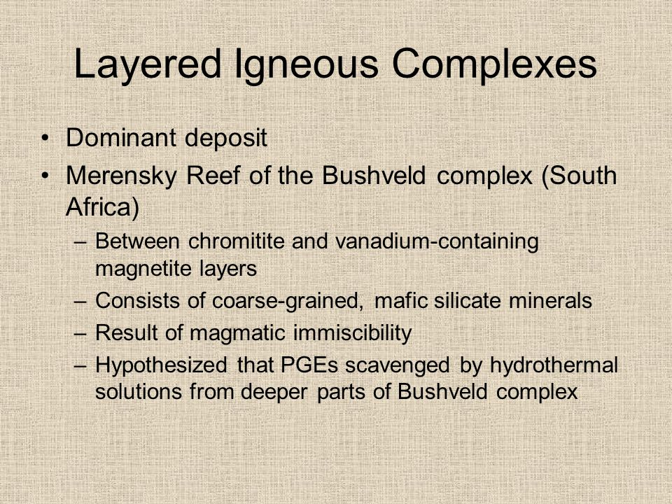 Layered Igneous Complexes