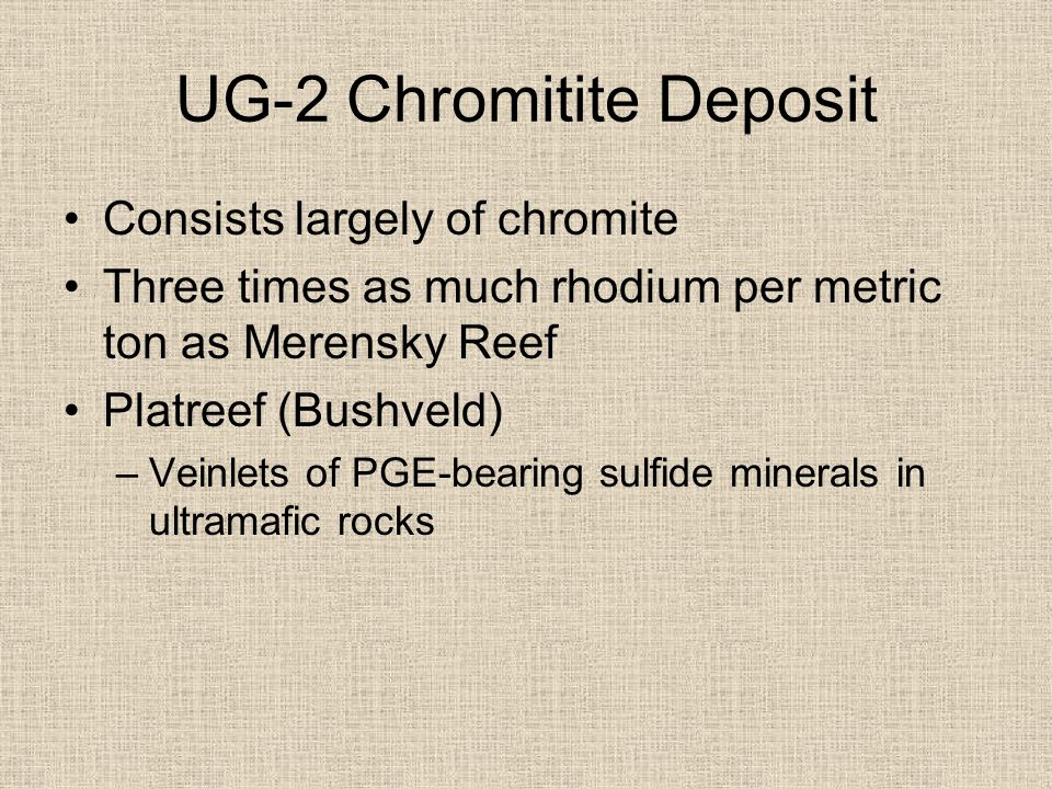 UG-2 Chromitite Deposit