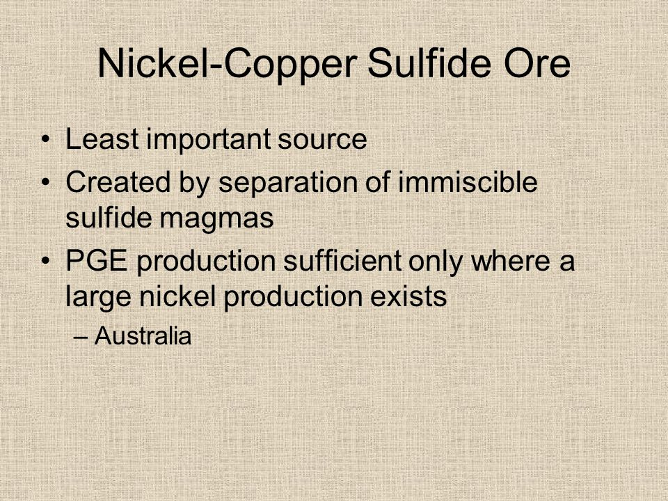 Nickel-Copper Sulfide Ore