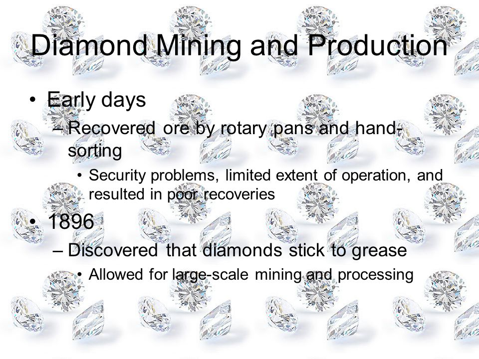Diamond Mining and Production